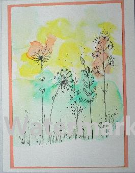 original art greeting cards acrylics flowers